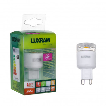 Luxram 715090303 CrystaLED /Plus G9 2.5W Warmwhite Blister Pack 2nd generation