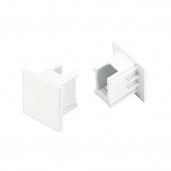 3-Circuit track End Cap white