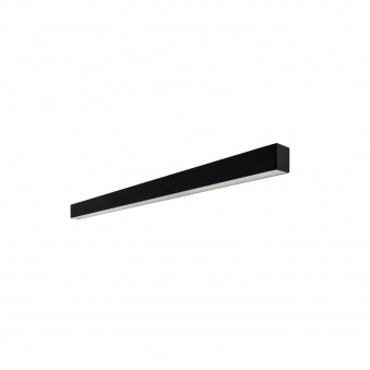 Vertigo linear ceiling black 142 prismatic